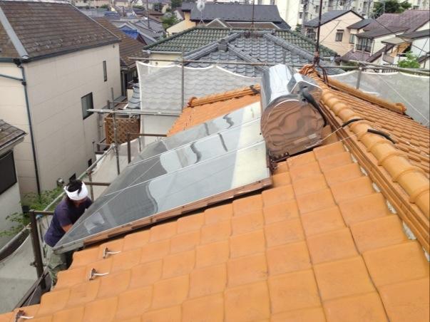ソーラーシステムの撤去