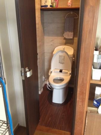 押入をトイレに